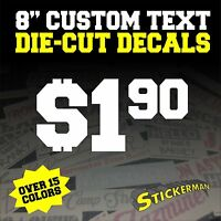 "Your Text Custom Sticker Vinyl Decal Car Window Bumper 8"" Personalized Lettering"