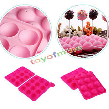 new Cake Cookie Chocolate Silicone Lollipop Pop Mold Mould Baking Tray