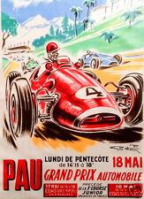 Pau 1959 Grand Prix Formula 1 F1 - Formula 2 full colour vintage poster Large