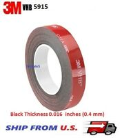 "3M VHB #5915 Double-sided Acrylic Foam Tape Automotive 1/2"" x 9/15/21/36/108 ft."