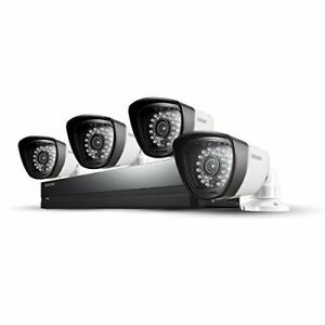 Samsung CCTV 4 x Weatherproof Cameras 500GB 8 Channel DVR Security System