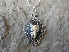 - Unique - Christmas - Easter Flying Guardian Angel Cameo Necklace! Handmade