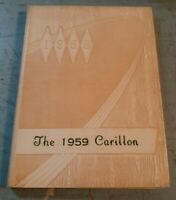 Vintage 1959 The Carillon Shenendehowa Elnora, NY Central High School Yearbook