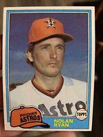 1981 Topps Nolan Ryan Houston Astros #240 Baseball Card CENTERED PSA READY