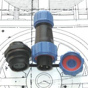SP13 Panel Mount IP68 Waterproof Plug & Socket Circular Connector 2-9pin