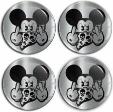55mm 3D Mickey Mouse Schädel Aufkleber für Nabendeckel Felgendeckel Nabenkappen