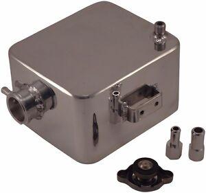 Polished Aluminum Overflow Coolant Alcohol Meth Injection Tank Reservoir Custom
