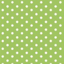 Baumwollstoff Große Punkte Grün METERWARE Webware Popeline Stoff Big Dots