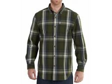 NWT Carhartt Bellevue Long-Sleeve Button-Down Relaxed Fit Cotton Shirt