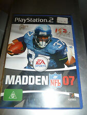PS2 Madden 07, good condition, missing booklet, tested