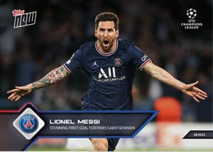 ➠ Topps Now Champions League #28 Lionel Messi Paris Saint-Germain PSG (PreOrder)