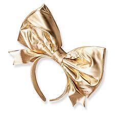 Giant Big Metallic Bow Headband Hair Piece Fancy Dress Accessory 50s 80s Girls