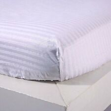 Only Fitted Sheet (Extra PKT) US Size Pima Cotton 1000 TC White Stripe