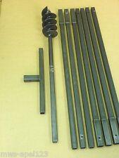 Erdbohrer Brunnenbohrer Brunnenbohrgerät Handerdbohrer 120 mm Erdlochbohrer