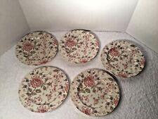 Set of 5 Johnson Brothers of England Rose Chintz Salad Plates