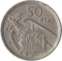 COIN / SPAIN / 50 PESETAS 1957  #WT643