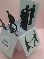 Pop up card dance themed birthday card