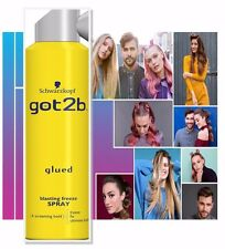 Schwarzkopf Got2b Glued Blasting Freeze Hold Spray 300ml for Wigs Closures and F