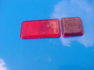 NOS Lucas Red Rear Side Marker Lens w/ Reflector MG Midget Triumph Spitfire GT6