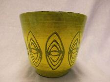 Übertopf Cachepot Planter yellow west german pottery design 60s 70s #2