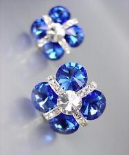 DESTELLANTE Azul Zafiro Checo CRISTALES Novia Graduación Belleza Reina