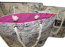 Beach Bag Holiday Shopping CANVASS Sport Baby Changing ladies large