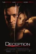 DECEPTION Movie POSTER 27x40 Ewan McGregor Hugh Jackman Michelle Williams Maggie