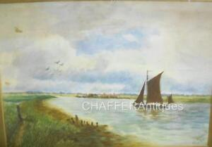 Edwardian Watercolour Painting  by the Artist M.C. WHITE 1911