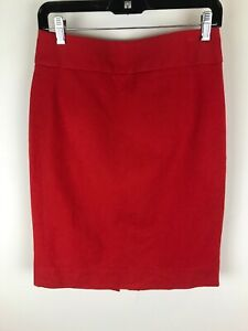 Banana Republic Sz 4 Red Straight Skirt