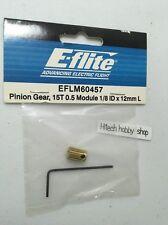E-flite Pinion Gear, 15T 0.5 Module 1/8 ID x 12mm L, EFLM60457