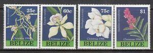 Belize - Posta Yvert 1102/5 MNH Natale Fiori
