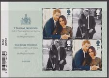 z1748) Great Britain. 2018. MNH. Royal Wedding. Barcode Minisheet
