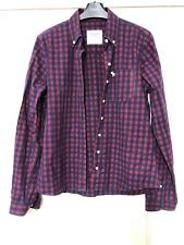 Abercrombie And Fitch Women Long Sleeve Shirt Size Medium M Red Check Great (D31