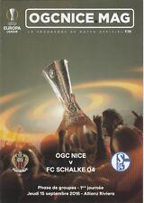 OGC Nice v FC Schalke 2016/17 (15 Sep) Europa League