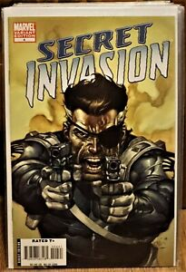 Secret Invasion #4 (2008 Marvel) Ltd.1:50 LEINIL FRANCIS YU Fury Variant NM+