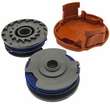 Spool Cap & 2 Twin Line Cassette Fits FLYMO Mini Trim Auto Plus, Power Trim 500