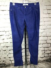 Piper & Blue Bright Shimmery Blue Corduroy Pants Jeans Skinny Slim Size 11
