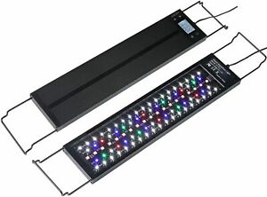 Aquarium LED Light with Timer, 24/7 Mode + Auto On Off Mode, Dimmable 7 Colors