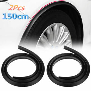 2x Car Fender Flare Extension Strip Protector Wheel Arches Tires Eyebrow New