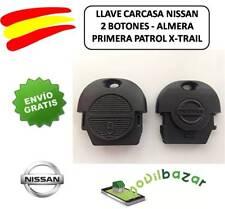 LLAVE CARCASA NISSAN ALMERA PRIMERA PATROL X-TRAIL 2 BOTONES. ESPAÑA