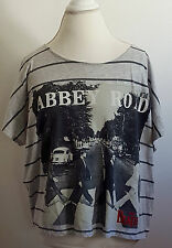 The Beatles Abbey Road Cover Graphic T-Shirt Top Rock Juniors Plus Size 19 XXL
