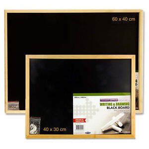 BLACKBOARD  SMALL OR LARGE WOODEN FRAMED OFFICE NOTICE MENU CHALK BOARD