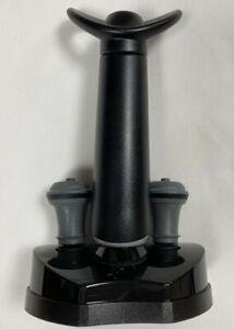 Vacu Vin Wine Saver Concerto 4 Piece Set Vacuum Pump Stand 2 Wine Stoppers