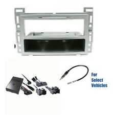Silver S Din Car Stereo Dash Wire Kit Combo Steering/Onstar for some Chevrolet