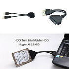 USB 3.0 SATA 7 22Pin to USB2.0 Adapter Cable For 2.5 HDD Laptop Hard Disk Drive