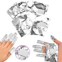 EG_ 100pcs Aluminium Foil Nail Art Soak Off Acrylic Gel Polish Nail Wraps Remove