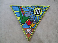 vintage 1980's 10th Aircraft Carrier Wing US Navy ? Fighter Pilot Squadron Patch