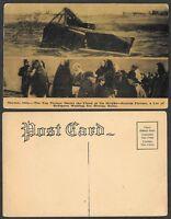 Old Ohio Postcard - Dayton - Flood Scene and Refugees