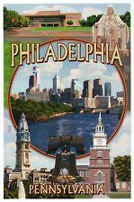 Philadelphia Pennsylvania Montage, PA Ben Franklin Statue etc. - Modern Postcard