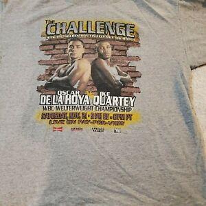 Vintage Boxing Shirt De La Hoya vs Quartey Feb 13, 1999 New-Never Worn